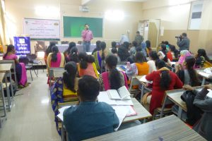 Mr. Shinde from Manashakti Kendra, guiding students on 'How to tackle problems in classroom' (2)